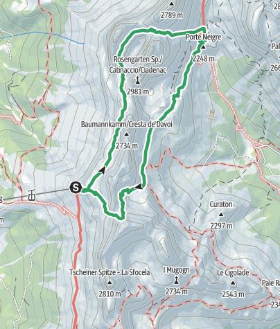 Karte / Santner Pass Klettersteig