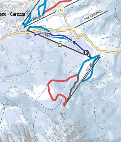 Cartina / Pista da slittino Hubertus a Carezza