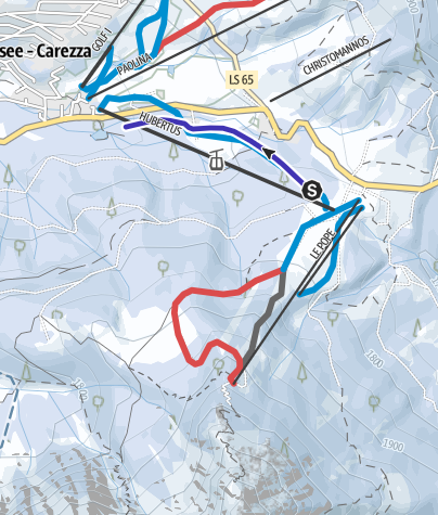 Cartina / Pista da slittino Hubertus a Carezza