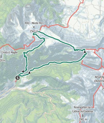 Cartina / Tour alpino alla volta dello Sciliar passando per il Buco dell'Orso
