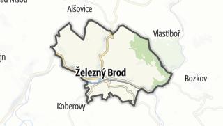 מפה / Železný Brod
