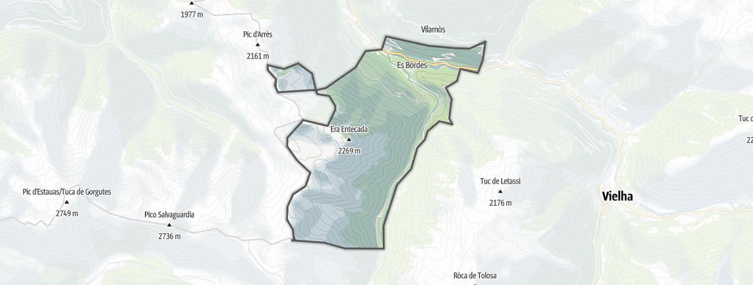 Mapa / Rutas de trekking en es Bòrdes