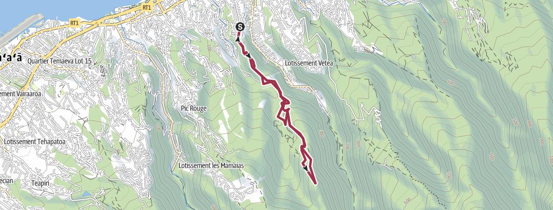 地图 / Chemin de crête - la mission