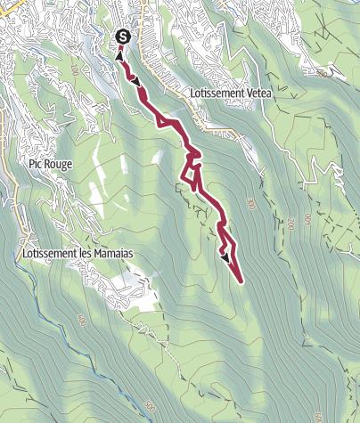 Mapa / Chemin de crête - la mission
