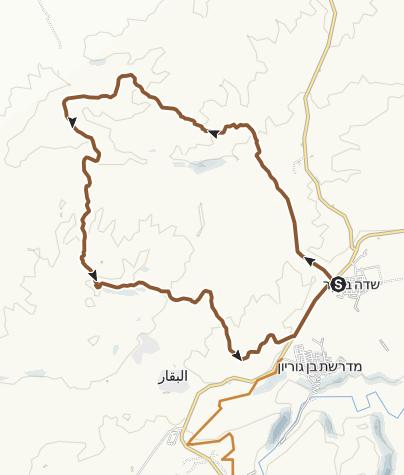 Karte / Mountainbike-Tour in der Negev-Wüste