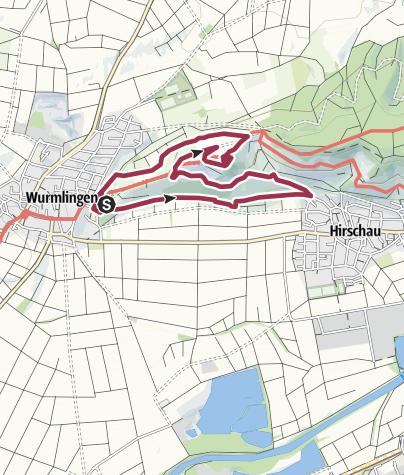 Karte / Früchtetrauf   Wurmlinger Kapellenwegle