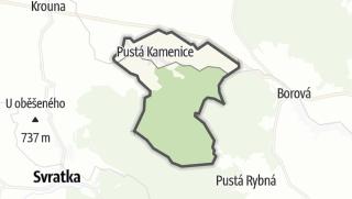 Mapa / Pustá Kamenice