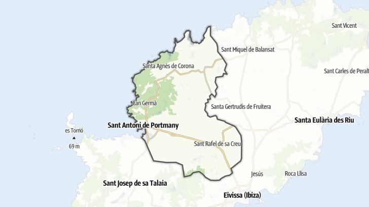 Kartta / Sant Antoni de Portmany