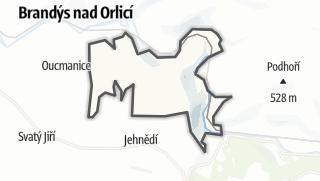 Hartă / Sudislav nad Orlicí