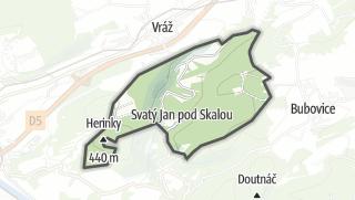 מפה / Svatý Jan pod Skalou