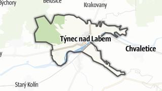מפה / Týnec nad Labem