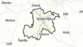 Hartă / Vysoké Mýto