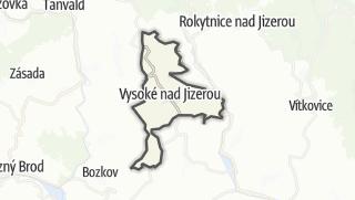 מפה / Vysoké nad Jizerou
