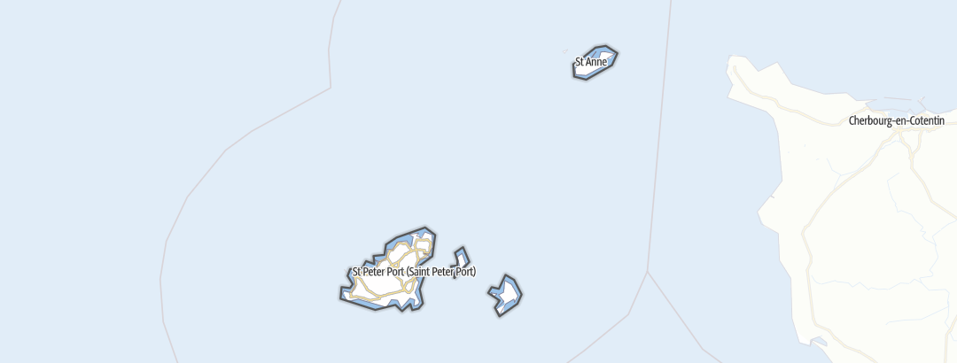 Mapa / Bailiwick of Guernsey
