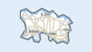 Carte / Bailliage de Jersey