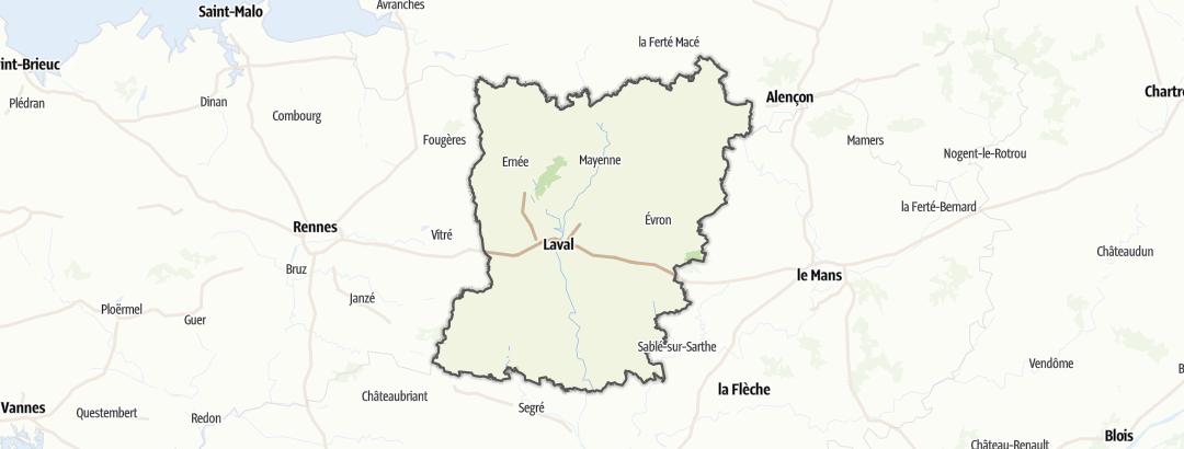 Carte / Parcours VTT - Mayenne