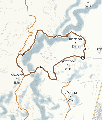 Karte / Mountain-Tour im Timna Nationalpark