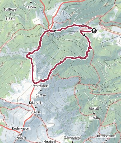 Karte / Alter Nandlgrat Fadensteig Schneeberg am 19.12.2015