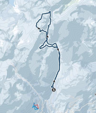 Carte / Ski de Rando Pierra Menta refuge de Presset