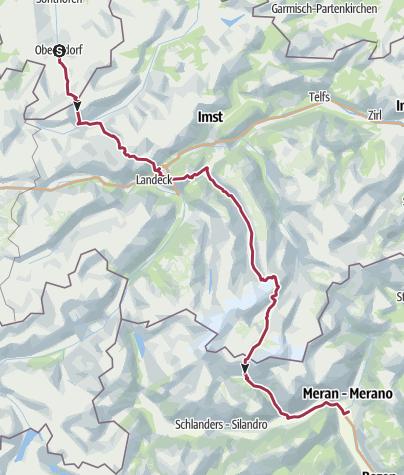 Karte / E5 - Oberstdorf Meran - 1. Etappe