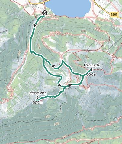 Karte / Bergtour auf den Litnisschrofen und die Krinnenspitze