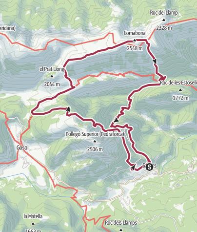Karte / Ruta Parc Nacional del Cadí-Moixeró