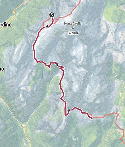 Map / Anello Civetta-Moiazza giorno 2