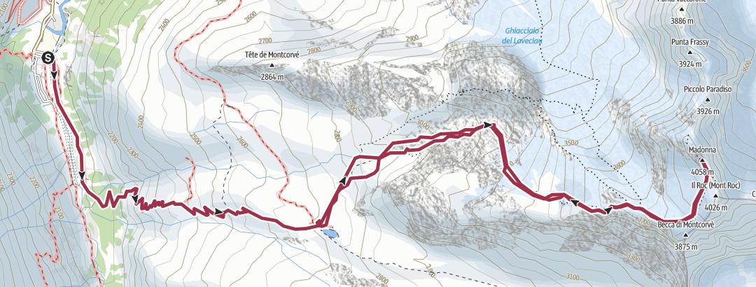 Mapa / Vetta Gran Paradiso, Valsavarenche 17 ago 2019