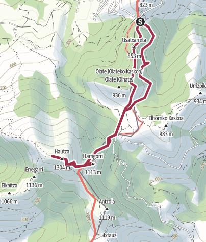 Mappa / Hautza (1304 m)