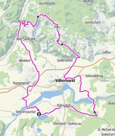 Karte / Tour zum Sonnenbalkon Kärntens: Diex
