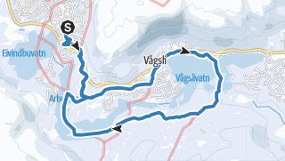 Map / Vågslid rundtur13km Vågslidvatnet