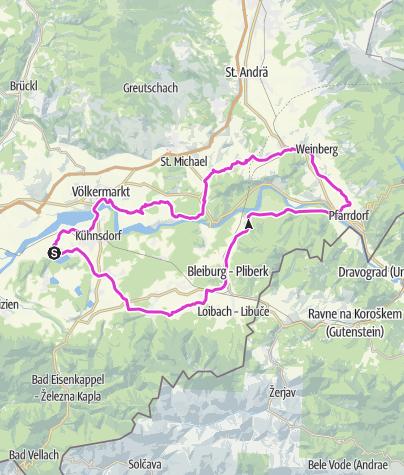 Karte / Vom See ins Apfelparadies: Klopeiner See - Lavanttal