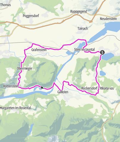 Karte / Rennrad-Kurztour Drau