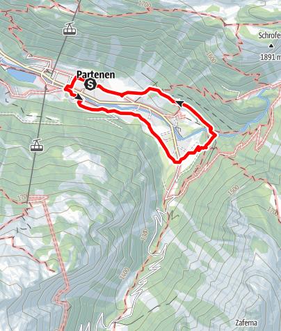 Karte / Kinderwanderweg Partenen