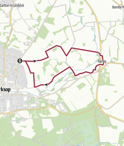 Map / Ranby Route ~ 15.5k