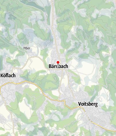 Karte / Pfarrgarten Bärnbach