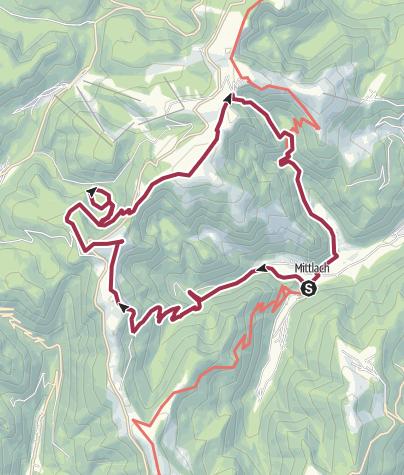 Map / Miitlach - Rainkopf