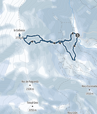 Map / La Carabassa, 2.740 m. Pyrenees, Catalonia.