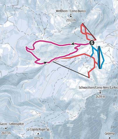 Cartina / Passo Oclini - Tra il Corno Nero e il Corno Bianco