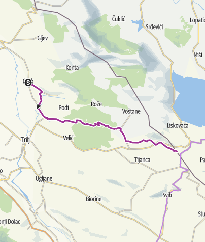 Map / Via Dinarica HR-W-27 Route of Our Lady of Sinj