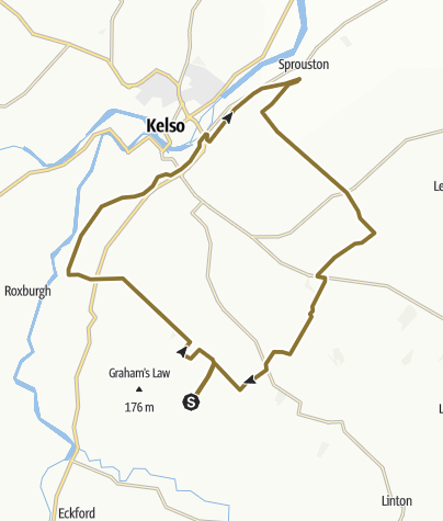 Map / Bowmont - Kelso - Sprouston - Lurdenlaw
