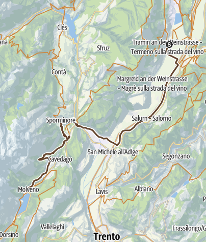 Karte / Tramin-Molveno