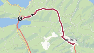 Karte / Waldrouten - Etappe Torhaus Möhnesee - Neuhaus