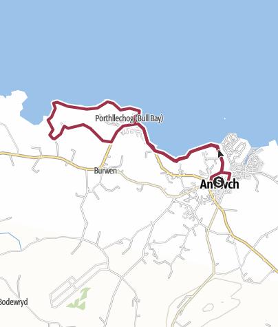 Map / Amlwch circular 8 Miles