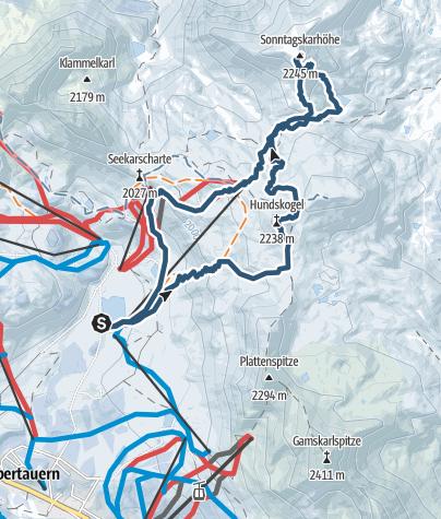 Karte / Sonntagkarhöhe über Hundskogel