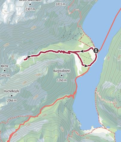 Karte / Wanderung zur Eiskapelle