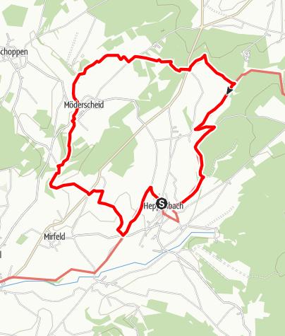"""Karte / Genusstour 10 - """"Wiesen und Wald"""" Heppenbach"""