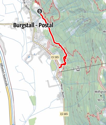 Karte / Burgstall Graf Volkmar-Trimm-dich-Pfad