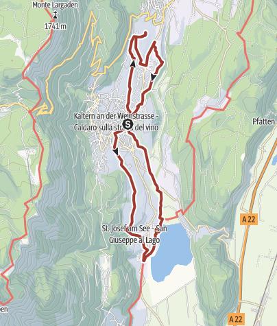 Cartina / Sentiero del vino a Caldaro