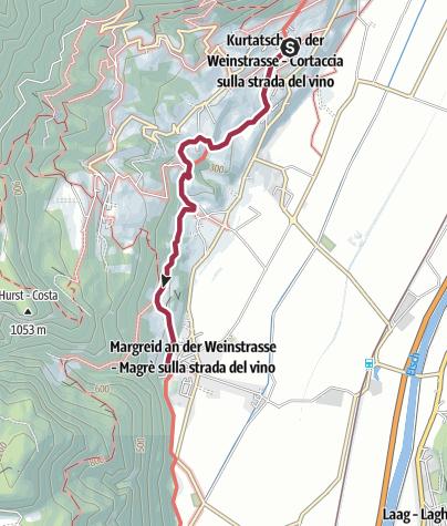 Cartina / Sentiero didattico enologico di Cortaccia